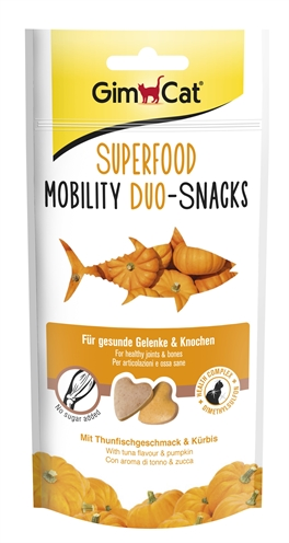 Gimcat superfood mobility duosnacks tonijn / pompoen
