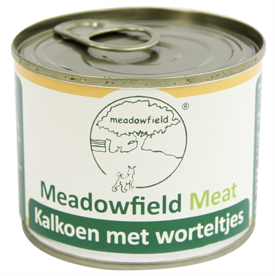 Meadowfield meat blik kalkoen / worteltjes