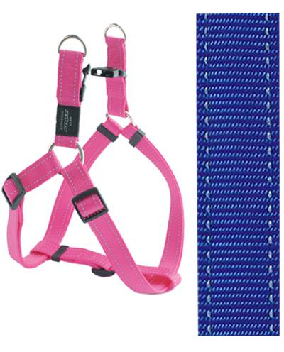 Rogz for dogs fanbelt step in hondentuig verstelbaar blauw 76 x 2 cm is eeneigentijdseentrendy step in ...