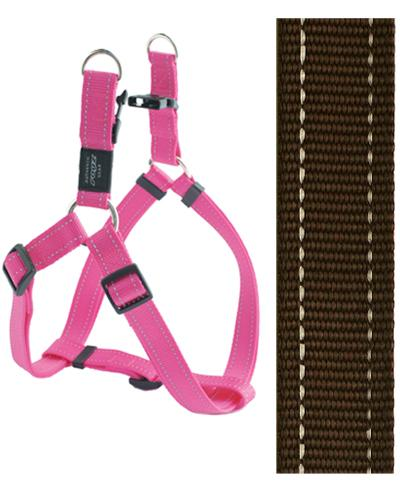 Rogz for dogs fanbelt step in hondentuig verstelbaar bruin 76 x 2 cm is eeneigentijdseentrendy step in ...