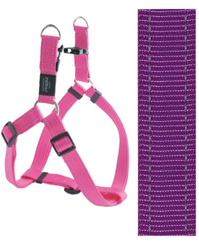 Rogz for dogs fanbelt step in hondentuig verstelbaar paars 76 x 2 cm is eeneigentijdseentrendy step in ...