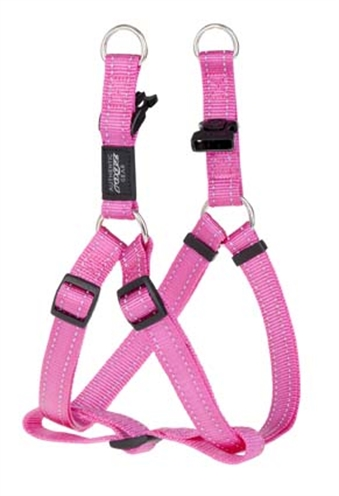 Rogz for dogs fanbelt step in hondentuig verstelbaar roze 76 x 2 cm is eeneigentijdseentrendy step in ...