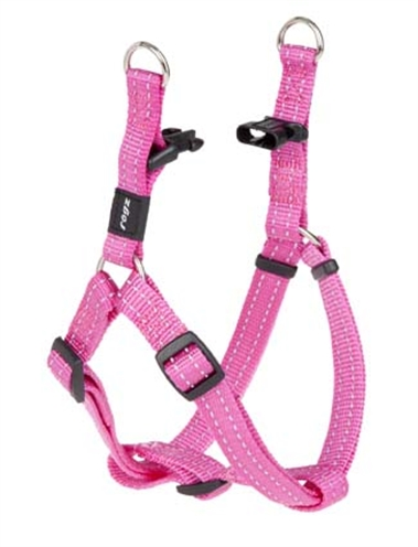 Rogz for dogs snake step in hondentuig verstelbaar roze 61 x 1,6 cm is eeneigentijdseentrendy step in ...