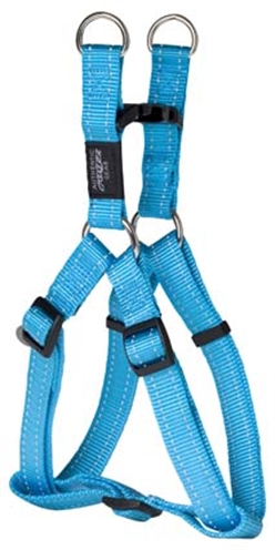 Rogz for dogs fanbelt step in hondentuig verstelbaar 76 x 2 cm turquoiseis eeneigentijdseentrendy step in ...