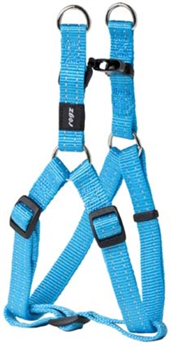 Rogz for dogs snake step in hondentuig verstelbaar 61 x 1,6 cm turquoise is eeneigentijdseentrendy step in ...