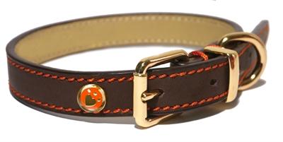 Rosewood Luxury leather Hondenhalsband Bruin 36 x 1,3 cm