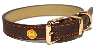 Rosewood Luxury leather Hondenhalsband Bruin 46 x 1,9 cm