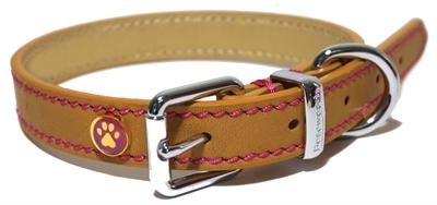 Rosewood Luxury leather Hondenhalsband Beige 56 x 3,8 cm