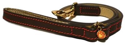 Luxury leather lijn hond leer luxe bruin