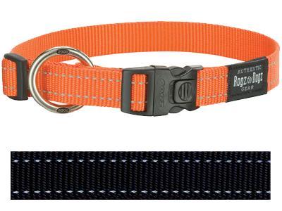 Rogz for Dogs Fanbelt Hondenhalsband Verstelbaar Zwart 56 x 2 cm