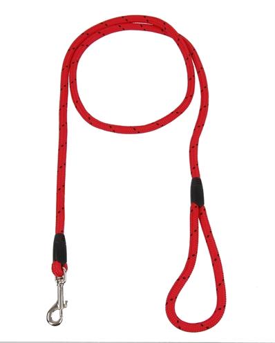 Rosewood hondenriem touw rood / zwart