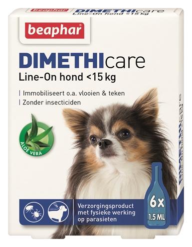 Beaphar Dimethicare Lineon Hond Tegen Vlooien en Teken Tot 15Kg