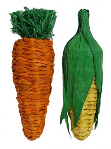 Rosewood speelgroente set maiskolf en wortel