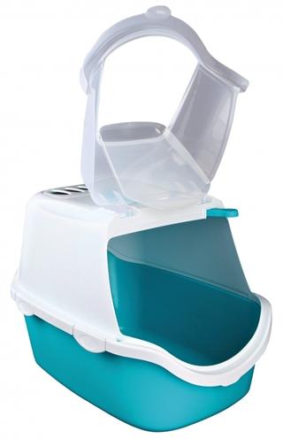 Trixie kattenbak vico easy clean aqua / wit