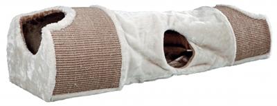 Trixie krabtunnel lichtgrijs - bruin - taupe