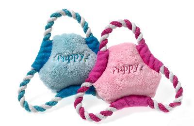 Afbeelding Karlie puppy frisbee roze of lichtblauw