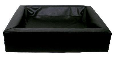 Bia Bed kunstleer Hoes hondenmand zwart 85x70x15 cm