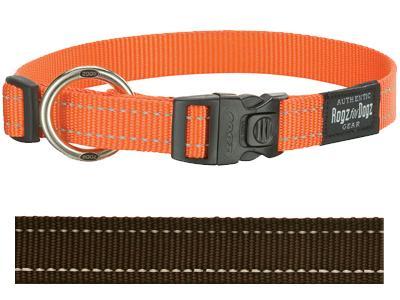 Rogz for Dogs Fanbelt Hondenhalsband Verstelbaar Bruin 56 x 2 cm
