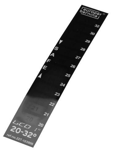 Afbeelding Europet Bernina Thermometer Lcd - Aquarium Toebehoren - 20-32 C