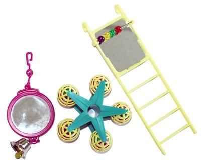 Happy pet bird toy mp spiegel/ladder/carousel