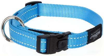 Rogz for Dogs Fanbelt Hondenhalsband Verstelbaar Turquoise 56 x 2 cm
