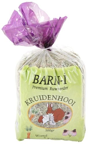 Afbeelding Barn-i Kruidenhooi - Wortel en Echinacea - 500 gram door Huisdierzaak.nl