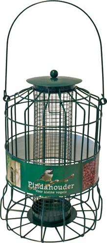 Metalen pindahouder voor kleine vogels groen