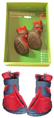 Boony waterhondenschoenen rood/zwart  5x5cm XS